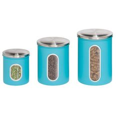 Honey Can Do 3 Piece Storage Canister Set
