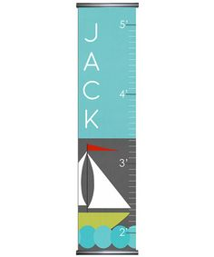 Mystic Sail Personalized Growth Chart by Lex Modern