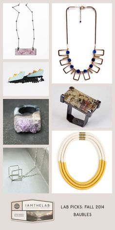 LAB Picks: Autumn 2014 – Baubles ➽ 21 Fresh handmade picks from the best jewelry makers on earth. #Etsy #Handmade #Jewelry