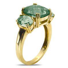 Ebay NissoniJewelry presents - Green Amethyst Fashion Ring in 10k Yellow Gold    Model Number:CG-4897Y0GAM    http://www.ebay.com/itm/Green-Amethyst-Fashion-Ring-in-10k-Yellow-Gold/221630579049