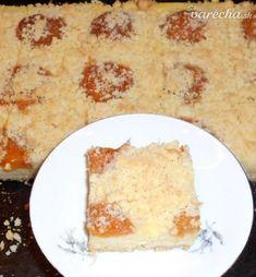 Jednoduchý mrvený koláč s pudingom a marhuľami (fotorecept) - recept | Varecha.sk Dairy, Cheese