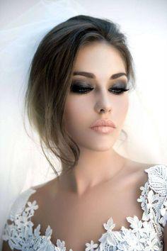 Image result for smokey eye bridal makeup