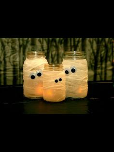 With battery tea light candles