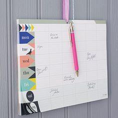 Weekly Planner Pad by Lollipop Designs