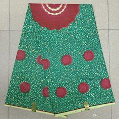YBGHA-53 New African Wax Print Fabric,Ankara Fabrics Batik Super Hollandais Wax…