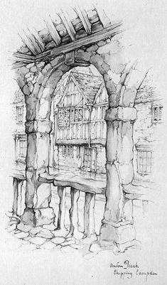 Works by Anton Pieck работ) Town Drawing, Drawing Sketches, Art Drawings, Drawing Block, Anton Pieck, Identity Art, Architecture Drawings, Urban Sketching, Environmental Art