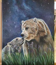 Brown Bear, Original Artwork, Animals, Animales, Animaux, Animal, Animais