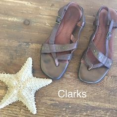 CLARKS bronze goddess leather sun sandals SUPER soft and comfy beautiful sandals by CLARKS in a rich bronze  SAVE 10% MORE BY BUNDLING!! FINAL PRICE! Clarks Shoes Sandals