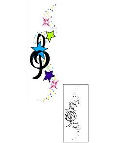 This Music tattoo design from our Miscellaneous tattoo category was created by Jennifer James. This tattoo design comes with a printable adjustable size color reference, and tattoo-able matching stencil. Tattoo Johnny is the brand that most professionals trust.
