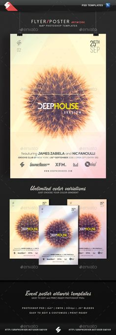 Deep House Session 2 - Event Flyer Template