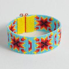 Native American Autumn Harvest Bead Loom Bracelet by PuebloAndCo, $17.99