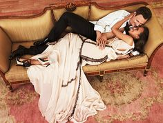 Kerry Washington and Tony Goldwyn from Scandal photographed by Ruven Afanador for Entertainment Weekly, March 2013.