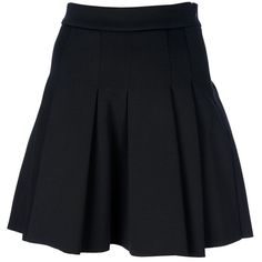 T By Alexander Wang Pleated Skirt found on Polyvore