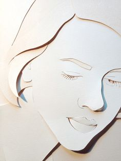 Paper portraits on Behance - look at treatment of eyes, nose, lips