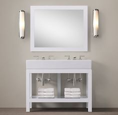 Alternate washstand for girls or our bathroom. Hutton Double Console Washstand