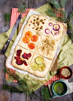 Such a fun way to enjoy many flavours in one easy go: Focaccia Tiles.