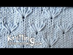 A video on how to knit the Dandelion stitch. This is a beautiful stitch pattern and can be a bit difficult at first but you do soon get used to it.