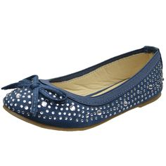 New Kid Girls Fashion Studded Ballet Flat Dress Shoes Size 9-4