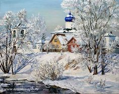 Картины маслом Творческого Объединения Artemis. Городской пейзаж. Виды Москвы