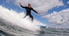 Me riding a wave on Fuerteventura (picture taken by Robin Ahne)