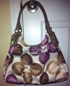 NWT COACH #17055 Clover Sateen Multi-Color Maggie Signature Shoulder Bag Purse in Clothing, Shoes & Accessories, Women's Handbags & Bags, Handbags & Purses | eBay