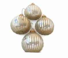 Vintage Glass Christmas Ball Ornaments Set by EclecticVintager, $10.00