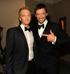 Neil Patrick Harris and Hugh Jackman. In my dream life I would perform on stage with NPH and date a man from the same place as Huge, oh wait! That is my life!