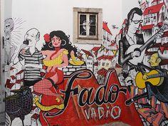"Urban art, Lisboa, Portugal - The ""Fado"""