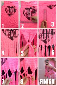Teen DIY T-shirt No sew project that's perfect for a beach throw over xx ☀️