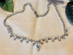Vintage Retro WEISS Marquise & Round Rhinestone Choker Necklace Wedding Formal STUNNING by SparklesGalorebyDeb on Etsy https://www.etsy.com/listing/545829816/vintage-retro-weiss-marquise-round