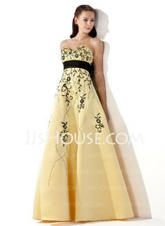 Prom Dresses - $173.99 - A-Line/Princess Sweetheart Floor-Length Satin Prom Dresses With Embroidered Sash Beading (018002324) http://jjshouse.com/A-Line-Princess-Sweetheart-Floor-Length-Satin-Prom-Dresses-With-Embroidered-Sash-Beading-018002324-g2324