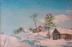 "Василий Россин (Vasily Rossin), Русская зимаRussian Winter2012 г.Холст, масло"" Canvas, oil""50 х 31"