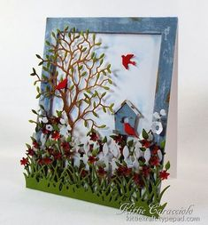 Weathered Birdhouse Scene by kittie747 - Cards and Paper Crafts at Splitcoaststampers