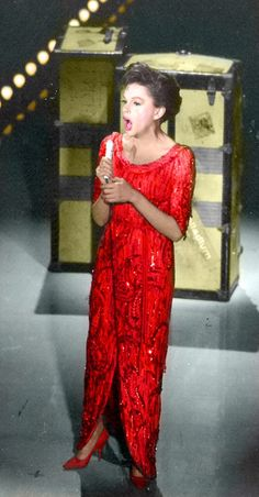 Judy, love her beautiful red gown.