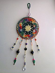 AliciaCren's Upcycled CD Mandala You are in the right place about Crochet clothes Here we offer you the most beautiful pictures about the Crochet bikini. Cd Wall Art, Cd Art, Cd Crafts, Upcycled Crafts, Crochet Mandala Pattern, Crochet Patterns, Mandala Art, Art Buddha, Crochet Dreamcatcher