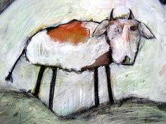 cow by carla sonheim Cute Animal Illustration, Illustration Art, Cow Art, Art Studies, World Best Photos, Pet Portraits, Art Lessons, Moose Art, Cute Animals