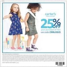 Back to School with Carters, snag this coupon and check out their amazing doorbuster sales.