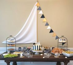 We hope this week is smooth sailing for you friends! This nautical-themed shower went swimmingly wit Sailing Party, Sailing Decor, Sailing Theme, Boat Theme, Yacht Party, Retirement Party Themes, Nautical Party, Monster Party, Halloween Halloween