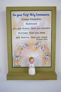 First Communion Gift for Girls - Holy Communion Gift - First Communion Keepsake - Special Gift for Godchild for Communion - Holy Gift Communion Gifts Girl, First Holy Communion, Stronger Than You, Always Remember, Gifts For Girls, Holi, My Etsy Shop, Handmade Gifts, Gifts