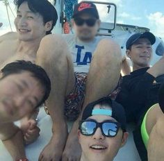 Photo From Song Joong Ki, Lee Kwang Soo, and Jo In Sung's Vacation Revealed
