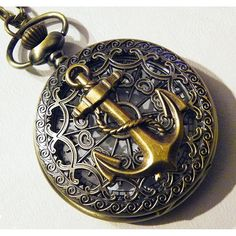 Steampunk Pocket Watch Military Anchor Victorian by tempusfugit