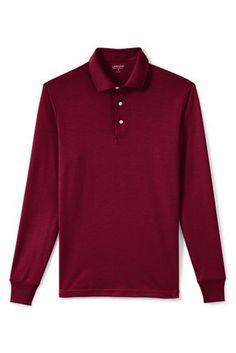 Men's+Supima+Polo+Shirt+from+Lands'+End **Regular Trad. L, Lupine, purple, navy, burgundy, cardinal