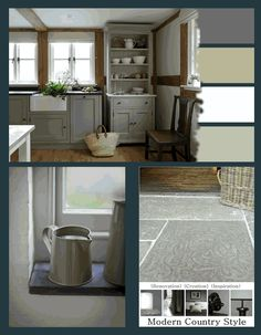 from Modern Country Style blog: Fantastic colour palate. She is genius explaining painting choices.