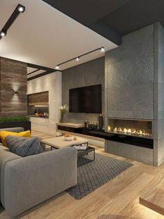 Дизайн пентхауса выполнен в современном стиле. Панорамные окна объединяют интерьер с экстерьером. С просторной кухни - гостиной осуществляется выход на террасу. На террасе организована большая зона отдыха для просмотра tv, также два лежака и небольшая ман… LOVE THIS FIREPLACE!