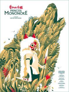Resultado de imagen para princess mononoke illustration