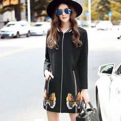 L- 5XL est Baseball Style Long Trench Coat Full Sleeve Zipper Outwear Fall Like and share this pure awesomeness! http://www.artifashion.net/product/l-5xl-est-baseball-style-long-trench-coat-full-sleeve-zipper-outwear-fall/ #shop #beauty #Woman's fashion #Products