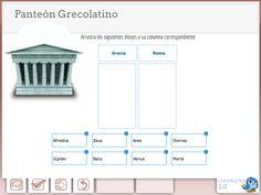 El panteón grecolatino. Actividad interactiva realizada con Constructor 2.0.