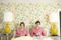 Man and woman matching pajamas. Sleepy Jones, Le Weekend, Outdoor Couple, Human Poses, Matching Pajamas, Ethical Clothing, Interior And Exterior, Lounge Wear, Underwear