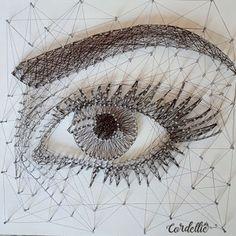 String Art Letters, String Wall Art, Nail String Art, Arte Linear, String Art Tutorials, Thread Art, Pin Art, Art Plastique, Pattern Art
