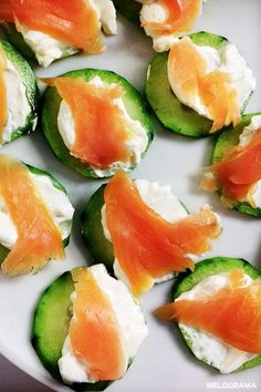 Smoked Salmon Appetizer - Salmon, Cream Cheese, and Cucumber